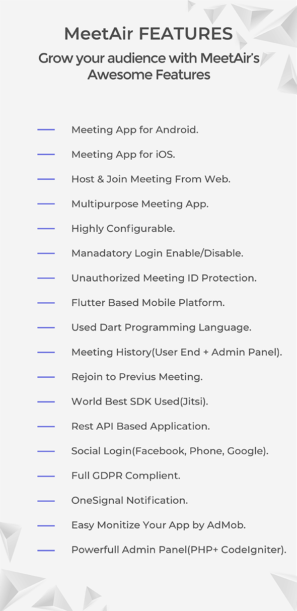 MeetAir - iOS and Android Video Conference App for Live Class, Meeting, Webinar, Online Training - 8